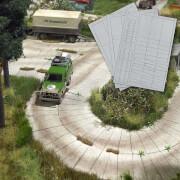 H0 Betonplatten-Straße